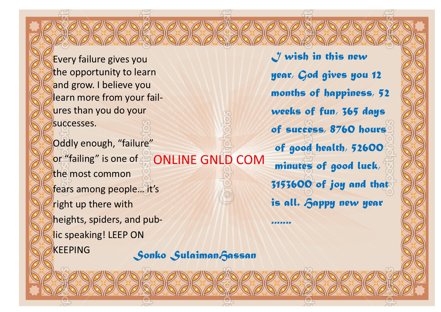 Gnld business plan